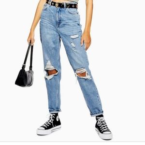 🆕Top shop mom high waisted tapered leg